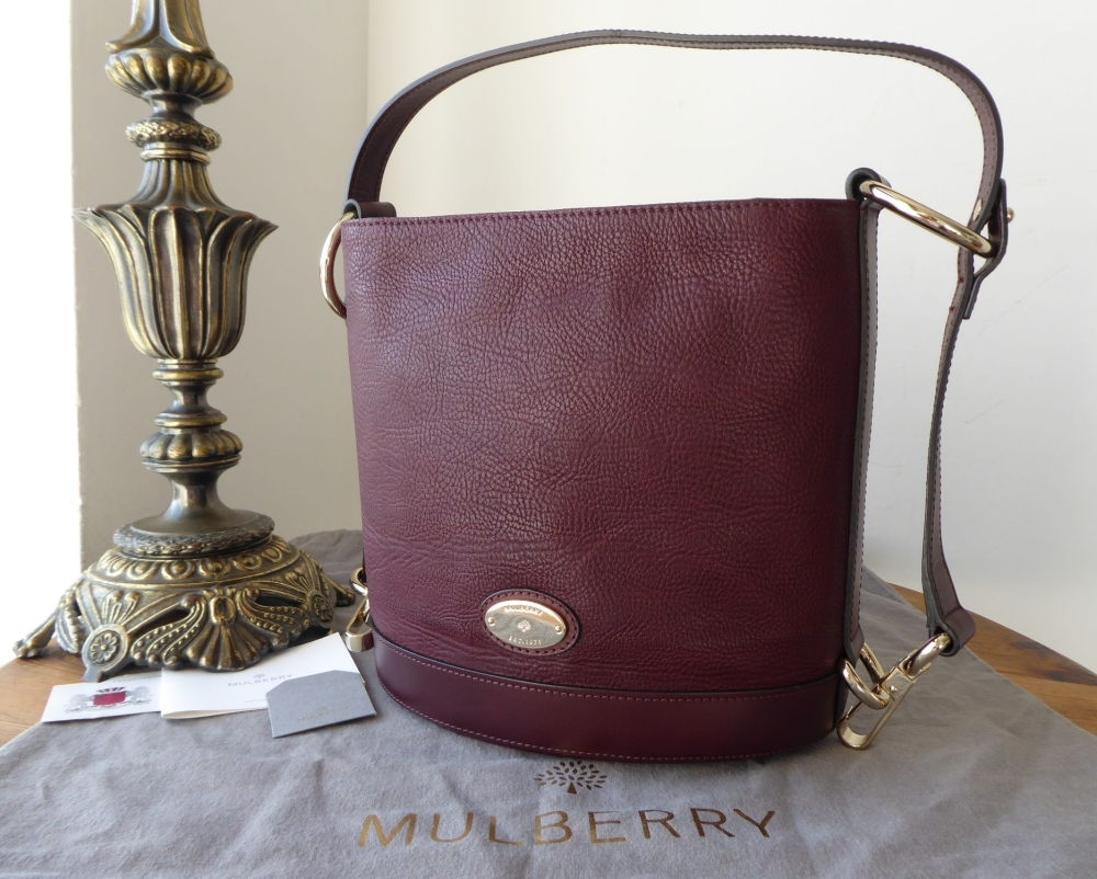 Mulberry Small Jamie in Oxblood Washed Calf