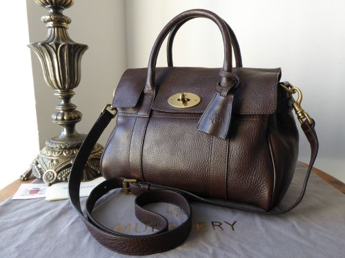 7a19d65031 ... promo code for mulberry classic small bayswater satchel in chocolate  natural leather sold b76ec 1b874 ...