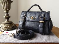 Mulberry Mini Alexa in Nightshade Large Silky Snake Printed Leather - SOLD 6e526b794d7ee