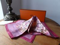 "Hermés ""Early America"" Silk Pocket Scarf - New"