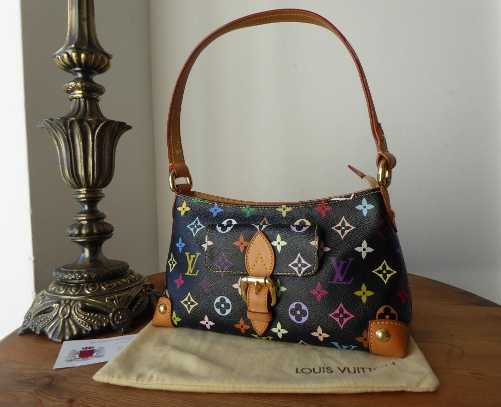 Louis Vuitton Eliza Small Shoulder Bag in Black Multicolore Monogram