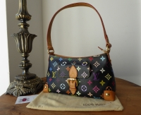 Louis Vuitton Eliza Small Shoulder Bag in Black Multicolore Monogram