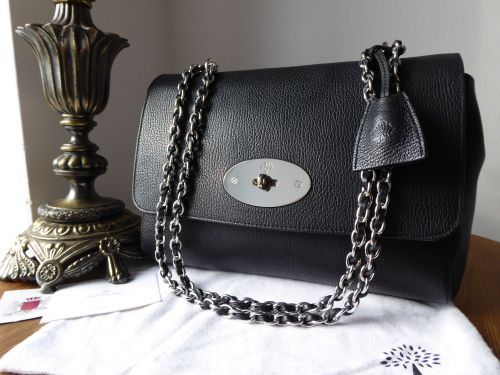 81a9ad8d83 ... ireland mulberry medium lily in black glossy goat with silver nickel hardware  sold 1cd10 585cb