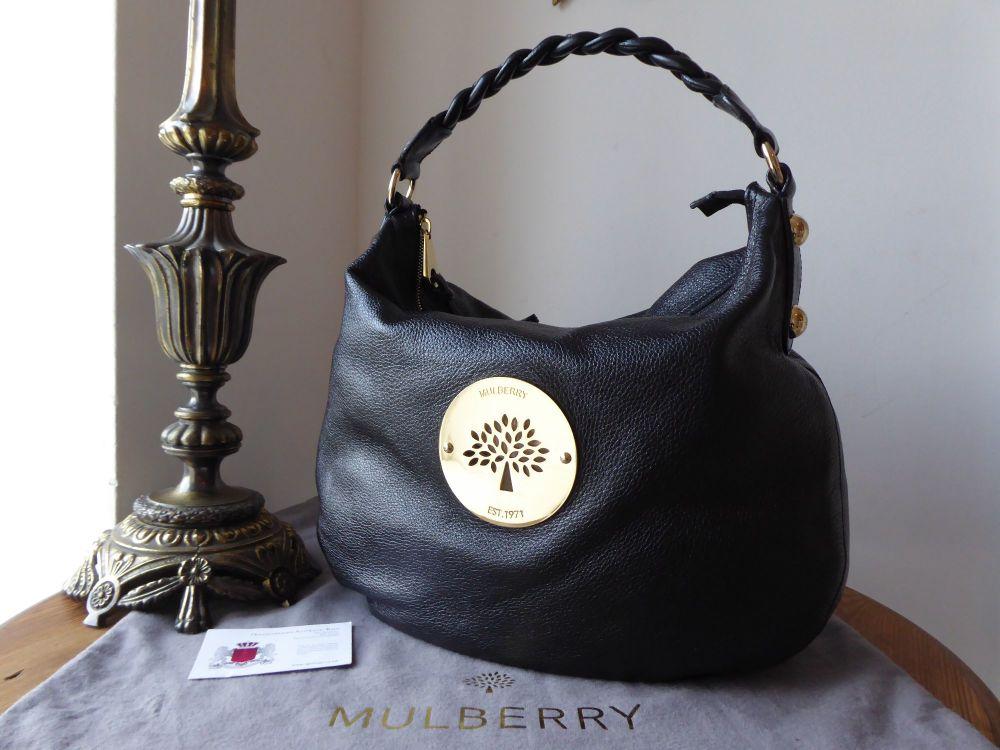 Mulberry Medium Daria Hobo in Black Soft Spongy Leather