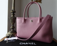 Chanel Executive Cerf Tote in Pink Calfskin with Silver Hardware