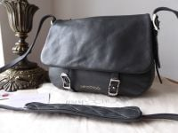 Jimmy Choo Small Becka Satchel in Smoke Grey Grainy Calfskin
