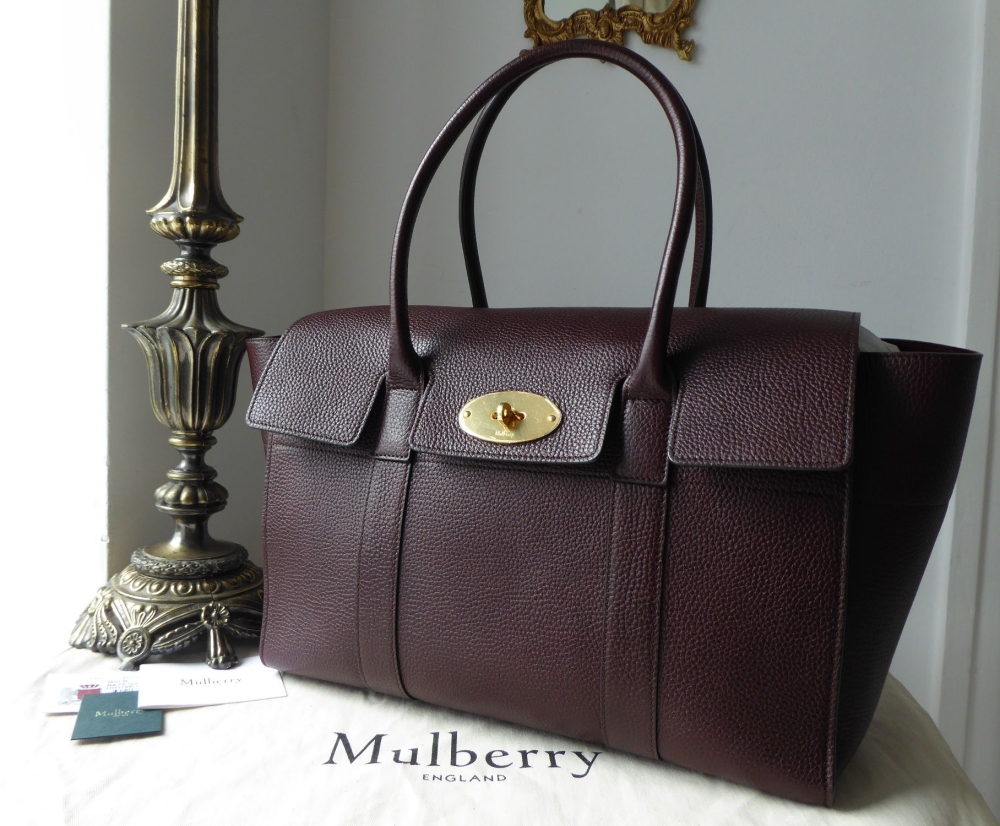 Mulberry New Style Bayswater in Oxblood Grained Vegetable Tanned Leather