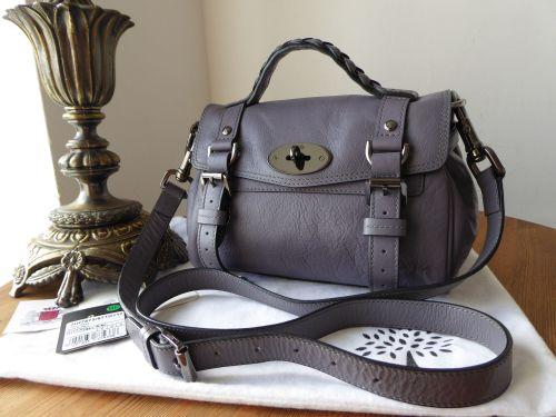 b9d70ac415 Mulberry Mini Alexa in Foggy Grey Soft Buffalo Leather - SOLD