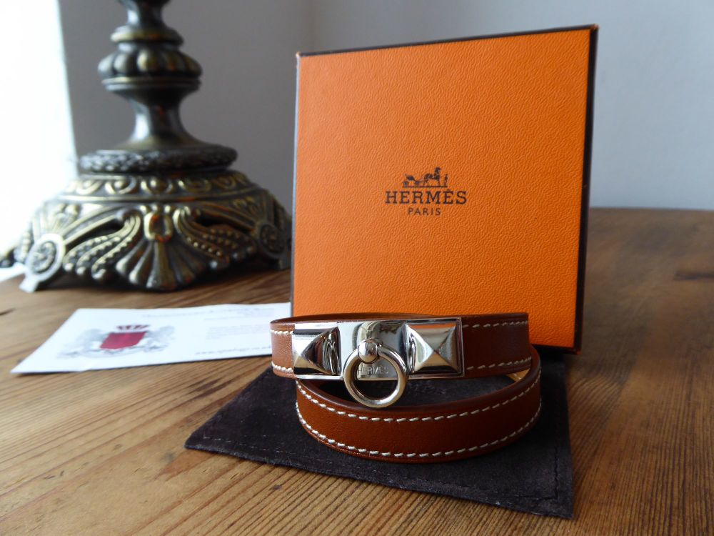 Hermès' Barenia Rivale Double Tour Bracelet
