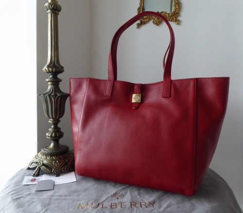 629a31516856 Mulberry Tessie Tote in Poppy Red Soft Small Grain Leather - SOLD