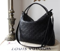 Louis Vuitton Ixia MM Hobo in Black Quilted Monogram Lambskin Antheia