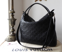 Louis Vuitton Ixia MM Hobo in Black Quilted Monogram Lambskin Antheia - SOLD