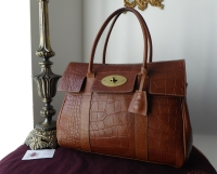 Mulberry Classic Bayswater in Oak Vegetable Tanned Printed Leather