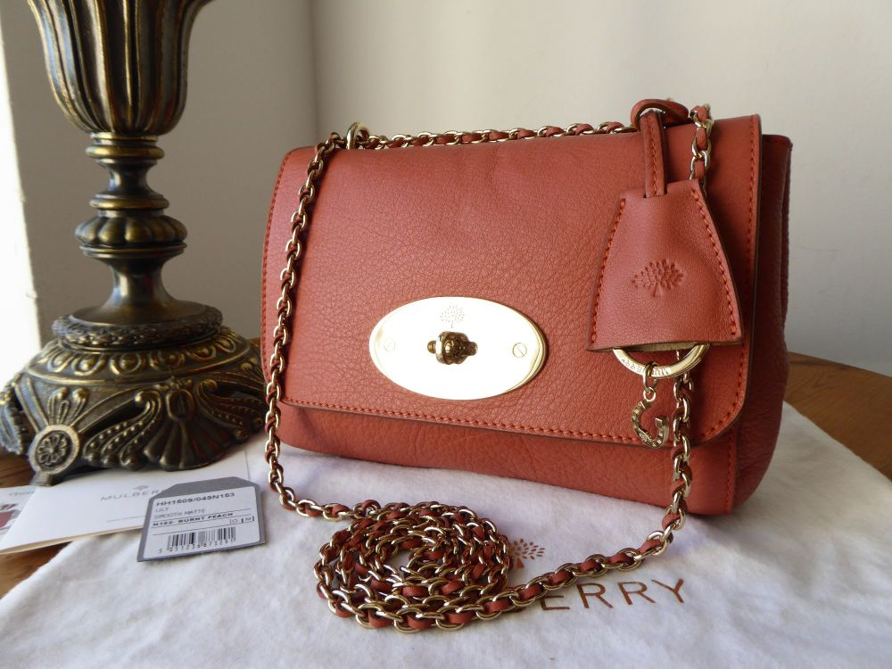 Mulberry Lily (Regular) in Burnt Peach Soft Matte Leather