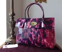 Mulberry Classic Bayswater in Plum Loopy Leopard Glossy Patent