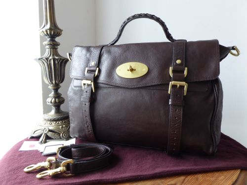 6c7cfe0c86f6 Mulberry Oversized Alexa in Chocolate Soft Buffalo Leather - SOLD
