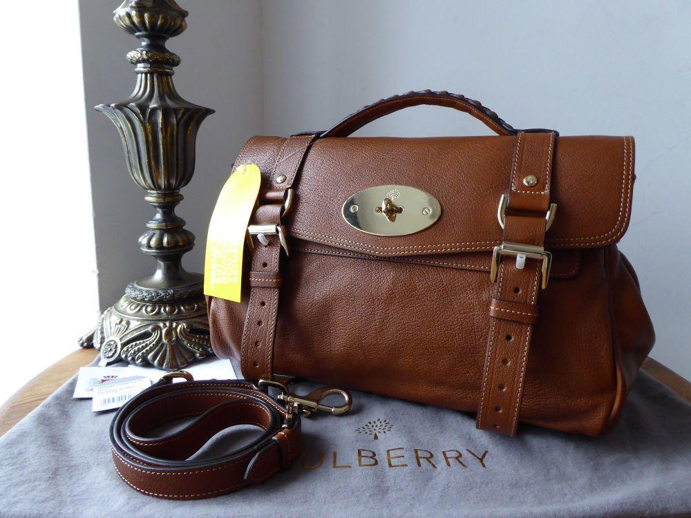 Mulberry Regular Alexa in Oak Polished Buffalo Leather - New