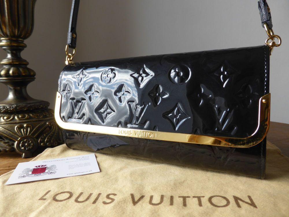 Louis Vuitton Rossmore MM Shoulder Clutch in Bleu Infini Monogram Vernis
