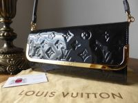 Louis Vuitton Rossmore MM Shoulder Clutch in Bleu Infini Monogram Vernis