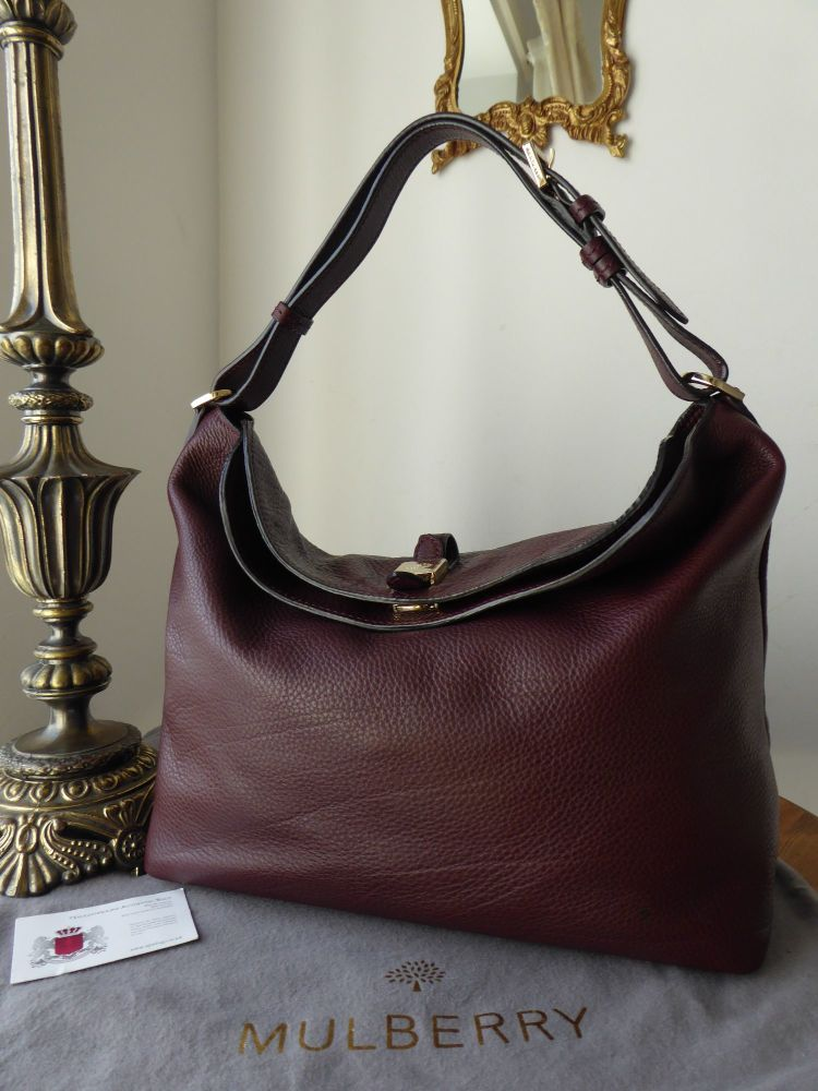 8efba560460f Mulberry Tessie Hobo in Oxblood Small Soft Grain Leather - SOLD