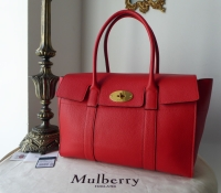 Mulberry New Style Bayswater in Fiery Red Small Classic Grain - As New