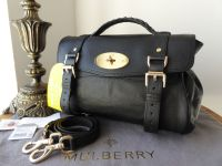 Mulberry Regular Alexa in Black Polished Buffalo Leather - New - SOLD