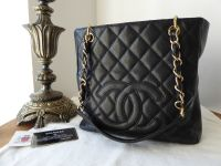 Chanel Petite Shopping Tote PST in Black Caviar with Gold Hardware - SOLD