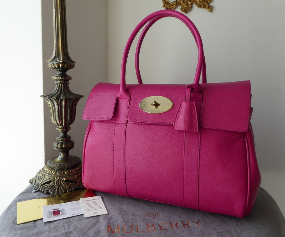 Mulberry Classic Bayswater in Mulberry Pink Glossy Goat - New*