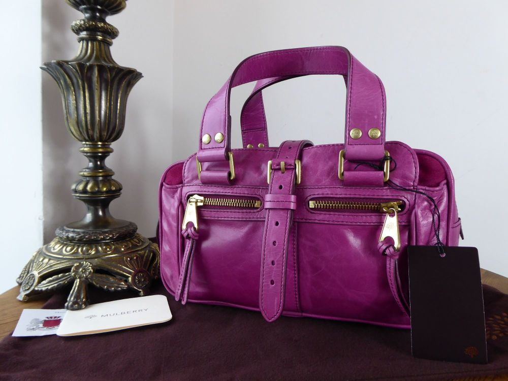 Mulberry Small Mabel in Fuchsia Lightweight Antique Leather
