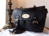 Mulberry Trout Satchel in Black Soft Large Grain Leather