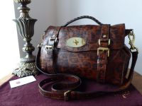 Mulberry Regular Alexa in Shiny Oak Leopard Printed Leather