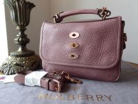 Mulberry Small Bryn Satchel in Blush Shiny Grain with Rose Gold Hardware - New