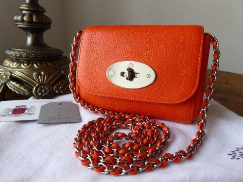 Mulberry Mini Lily in Mandarin Orange Small Classic Grain Leather - New 755468fbf7baf