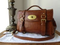 Mulberry Regular Alexa in Oak Printed Leather