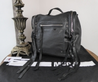 Alexander McQueen McQ Loveless Convertible Box Backpack in Black Sheeps Leather