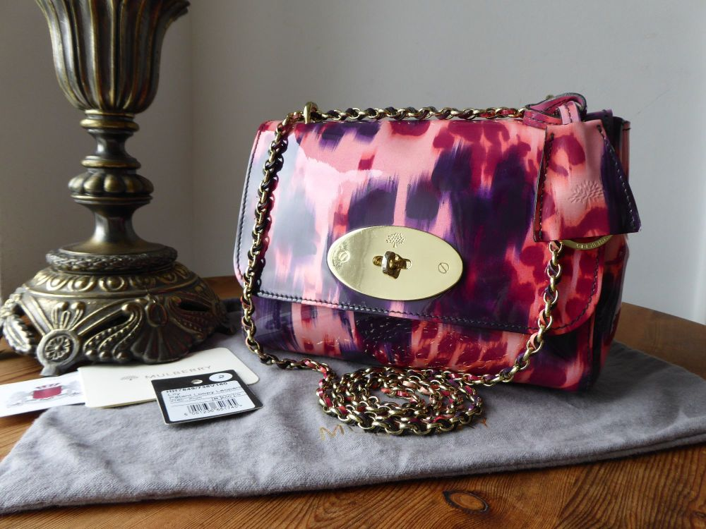 Mulberry Regular Lily in Plum Loopy Leopard Patent Leather