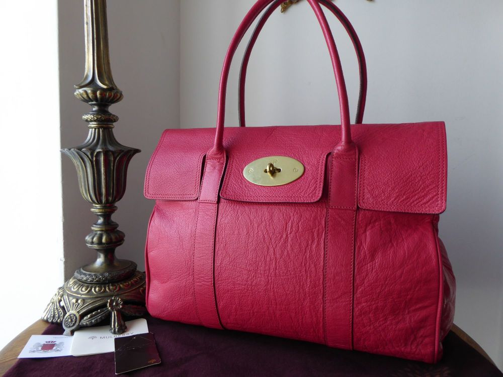 Mulberry Classic Bayswater Special in Fuschia Polished Buffalo Leather