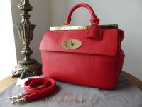 Mulberry Small Suffolk in Bright Red Soft Grain Leather