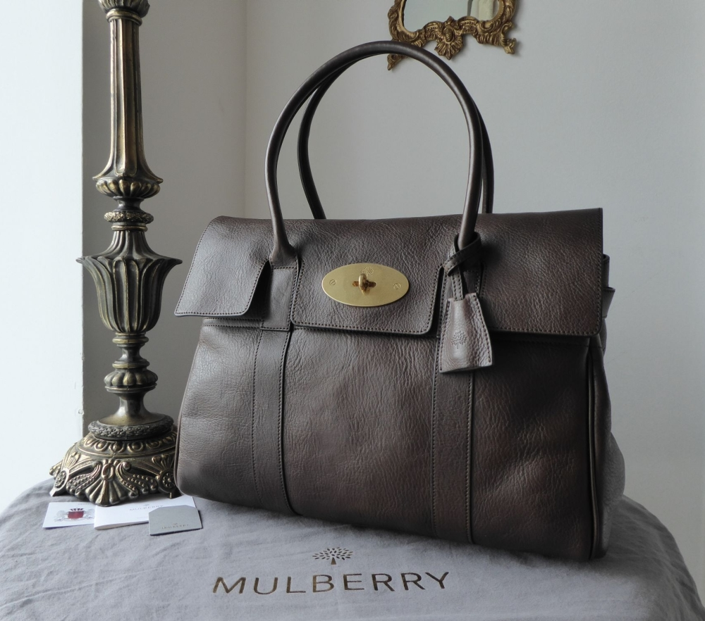 Mulberry Classic Heritage Bayswater in Chocolate Natural Leather - New*