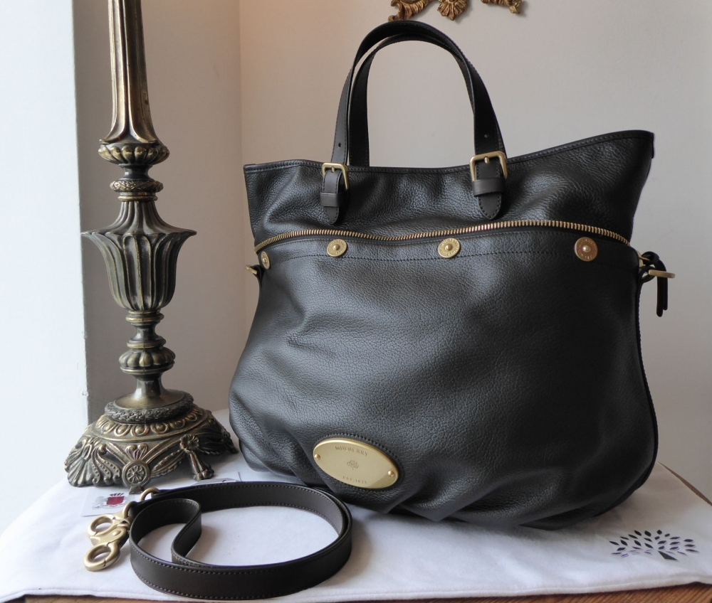 Mulberry Mitzy Tote in Black Pebbled Leather - As New*