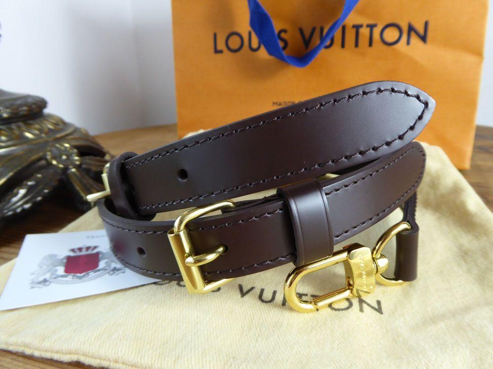 Louis Vuitton Tri Part Adjustable Shoulder Strap in Smooth Ebene Leather 20