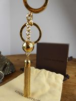 Louis Vuitton Porte Cles Swing Tassel Key Ring Bag Charm in Golden Brass