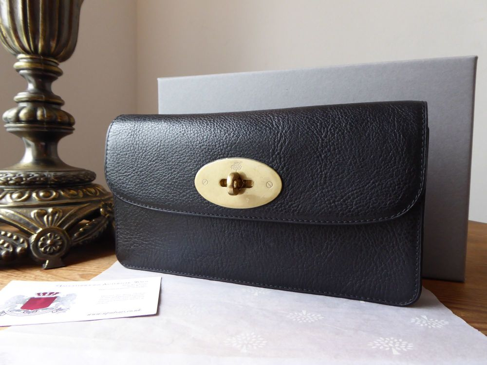 Mulberry Long Locked Purse in Black Natural Leather - New*