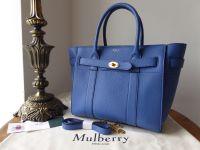 Mulberry Small Zipped Bayswater in Porcelain Blue Small Classic Grain - New* - SOLD