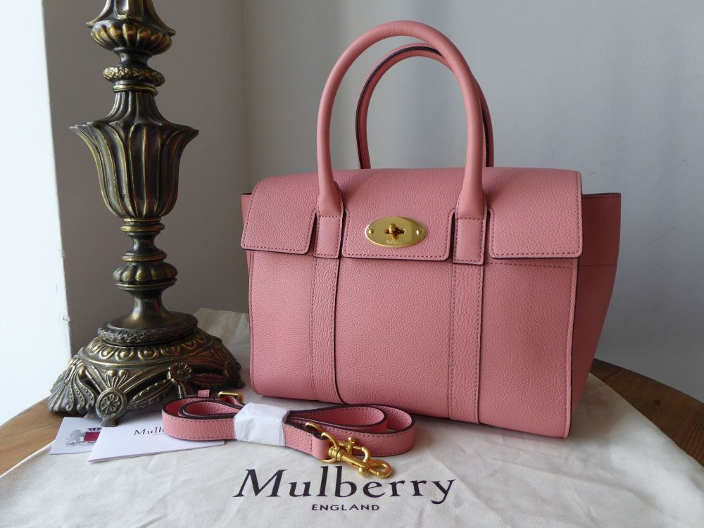 Mulberry Small New Bayswater in Macaroon Pink Small Classic Grain - New