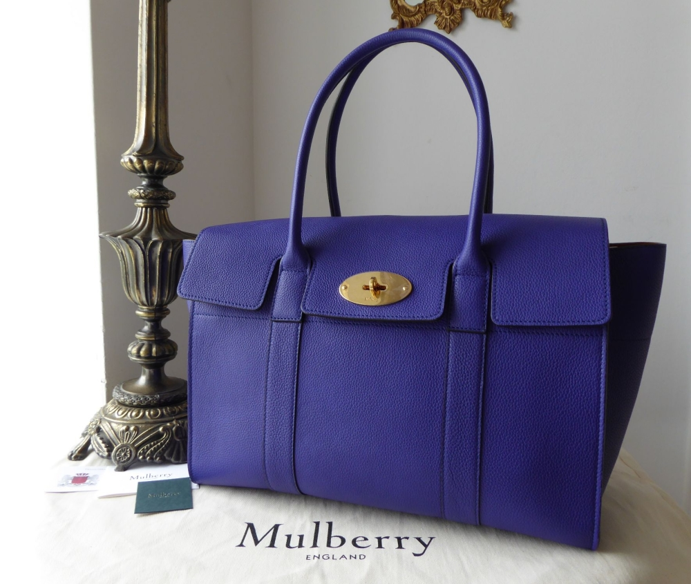 Mulberry New Style Bayswater in Indigo Small Classic Grain -New*