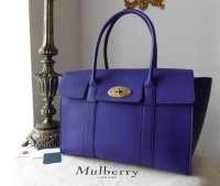 Mulberry New Style Bayswater in Indigo Small Classic Grain - SOLD