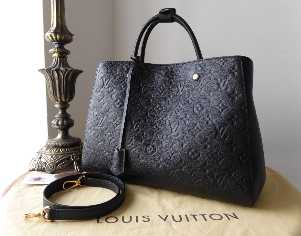 Louis Vuitton Montaigne GM in Monogram Noir Empreinte New