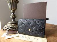 Louis Vuitton Curieuse Wallet in Monogram Noir Empreinte - New*