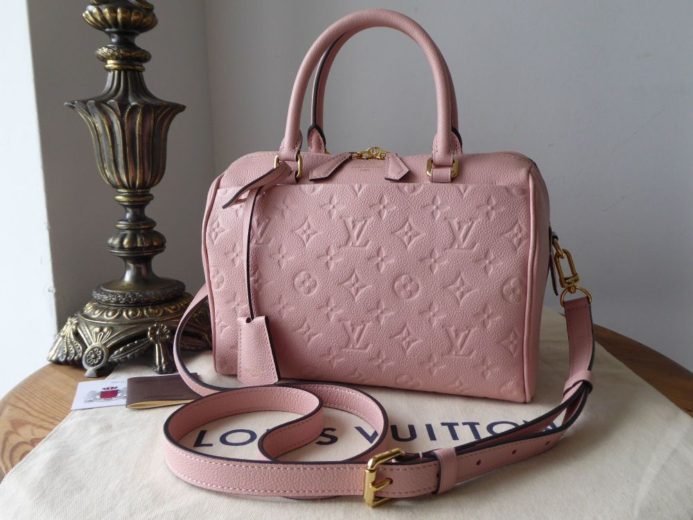 34e5341c5b7e Louis Vuitton Speedy Bandoulière 25 in Monogram Empreinte Rose Poudre - SOLD